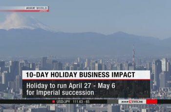 জাপানে ১০ দিনের দীর্ঘ ছুটি ৪০ শতাংশ বাণিজ্যিক প্রতিষ্ঠানকে প্রভাবিত করতে পারে