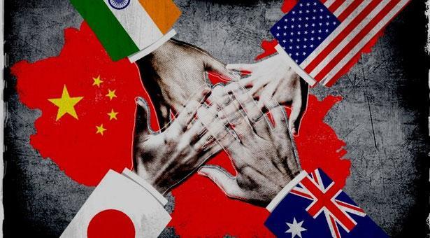 চীনের বিরুদ্ধে একজোট শক্তিশালী চার দেশ