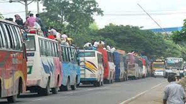 ঢাকা-টাঙ্গাইল মহাসড়কে ১০ কিলোমিটার যানজট